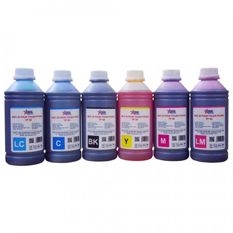 Bộ 6 Màu Mực in phun Thuận Phong TP50 (1L) dùng cho tất cả các dòng máy in phun Epson, HP, Canon - Hàng Chính Hãng