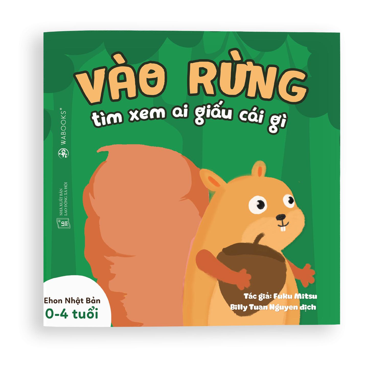 Sách Ehon - Vào rừng xem ai giấu cái gì - Dành cho trẻ từ 0 - 4 tuổi