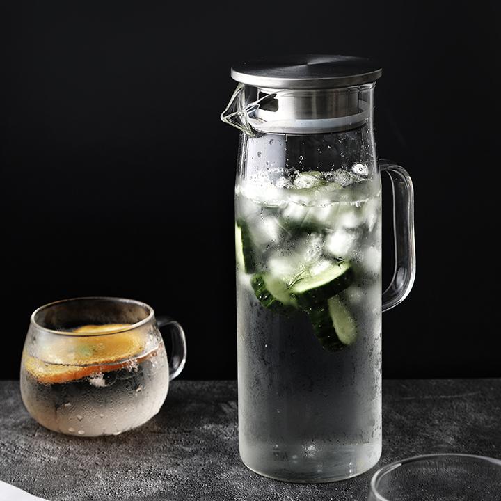 Bình nước và pha trà dáng cao thủy tinh 2020MC11