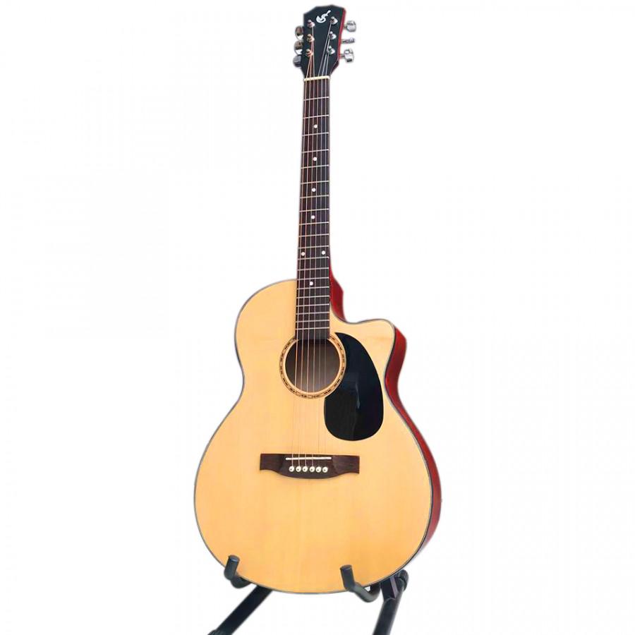 Đàn guitar sản xuất tại Viểt Nam - VS750 có ty mặt gỗ