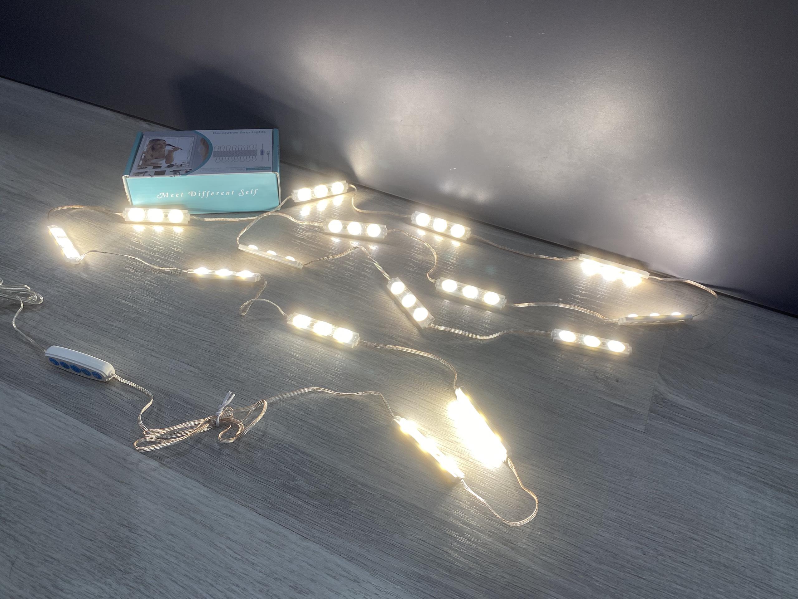 Bộ 15 thanh led 3 mắt dán gương trang điểm dán tủ kính tiện lợi siêu sáng - 5 chế độ sáng tăng giảm độ sáng BL-032 Video