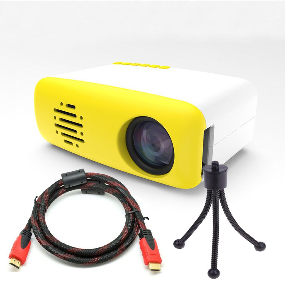 Máy Chiếu Mini Dùng Tại Gia Đình LCD LED CS03 Kèm Chân Đế Tiện Dụng Cao Cấp AZONE