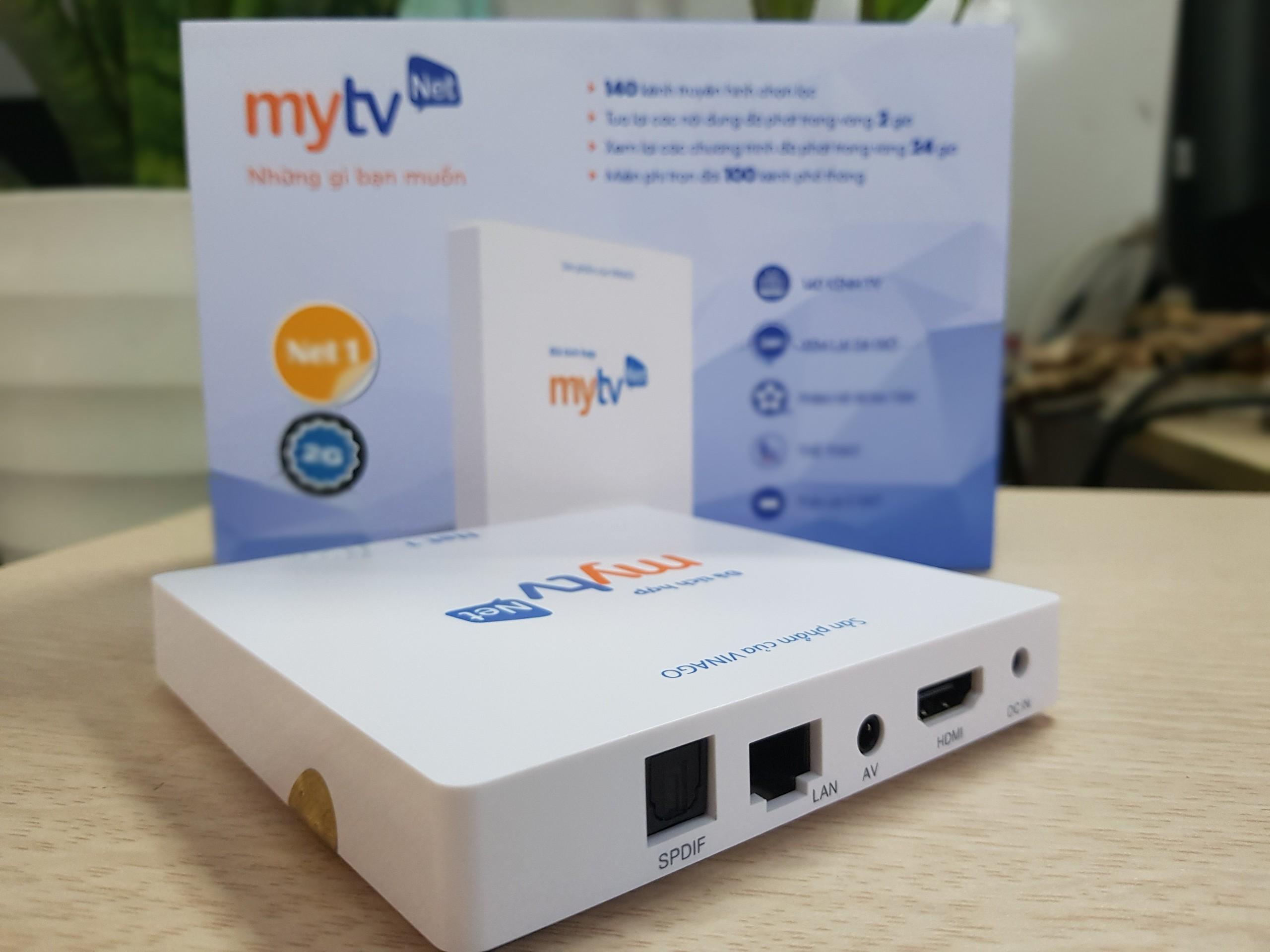 Android MyTV Net RAM 2G-2020 Tặng Chuôt Tài khoản HDplay, Android 7.1.2- Hàng chính hãng