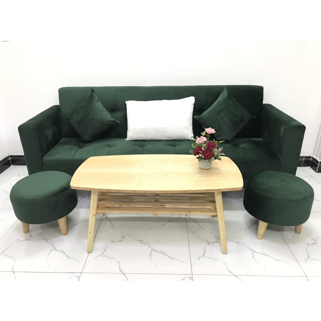 Bộ ghế sofa giường 2mx90 sofa bed tay vịn phòng khách salon linco14