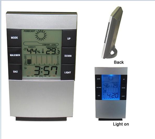 Đồng hồ đo nhiệt độ, độ ẩm và báo thức 5 chức năng trong một