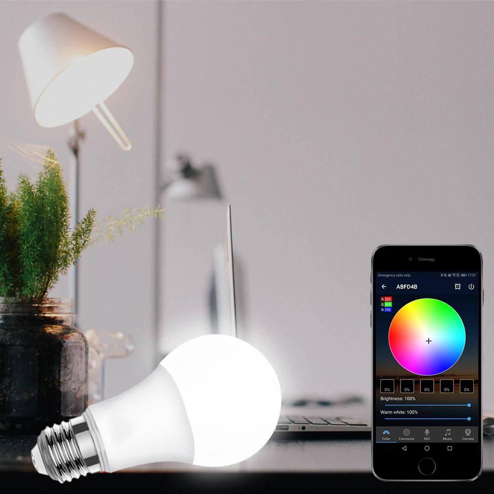 Bóng đèn LED 7 màu Wifi thông minh 10W RGBW+6500K NAS-BBQ9