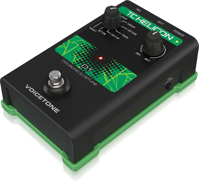 TC-Helicon VoiceTone D1 Doubling and Detune Vocal Effects Pedal-Hàng Chính Hãng