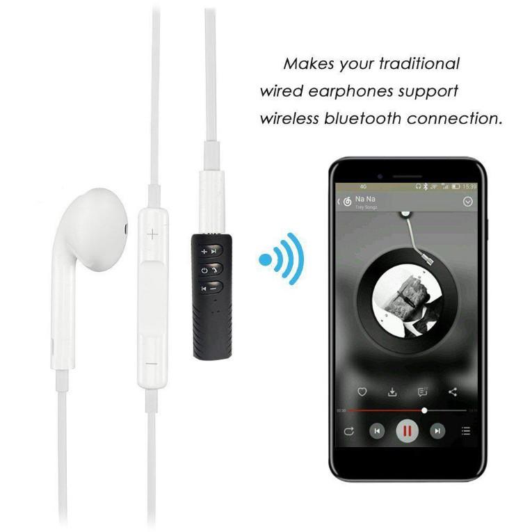 Thiết bị chuyển đổi loa thường thành loa Bluetooth tai nghe thường thành tai nghe Bluetooth V4.1 tặng kèm Jack 3.5 PF91