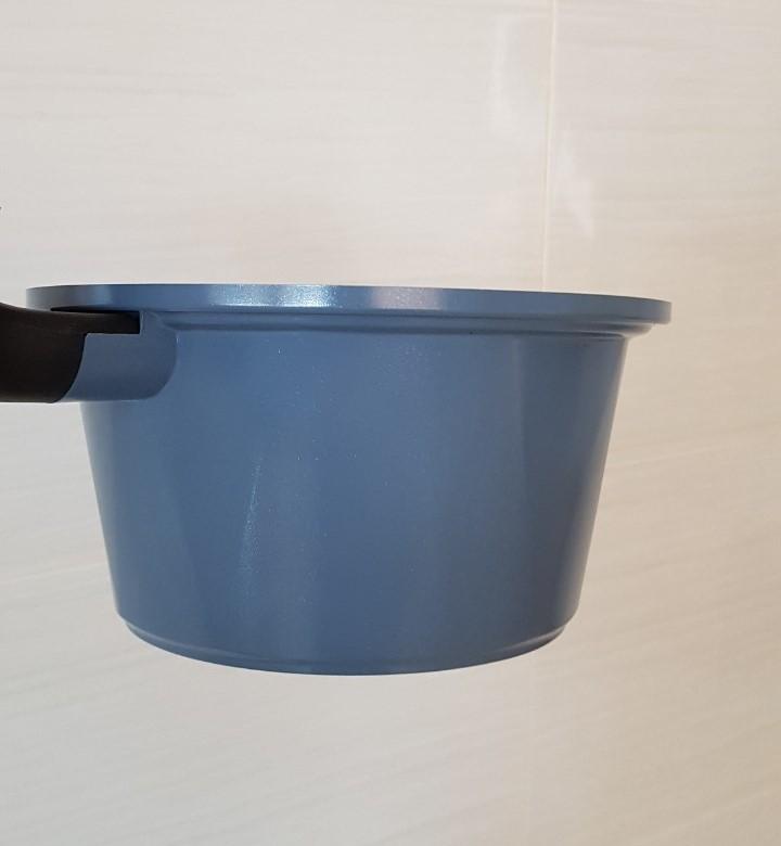Quánh nấu bột, cháo cho bé size 18cm, chống dính vân đá ceramic cao cấp Hàn Quốc an toàn cho bé, nắp kính cường lực viền inox chắc chắn - Hàng chính hãng