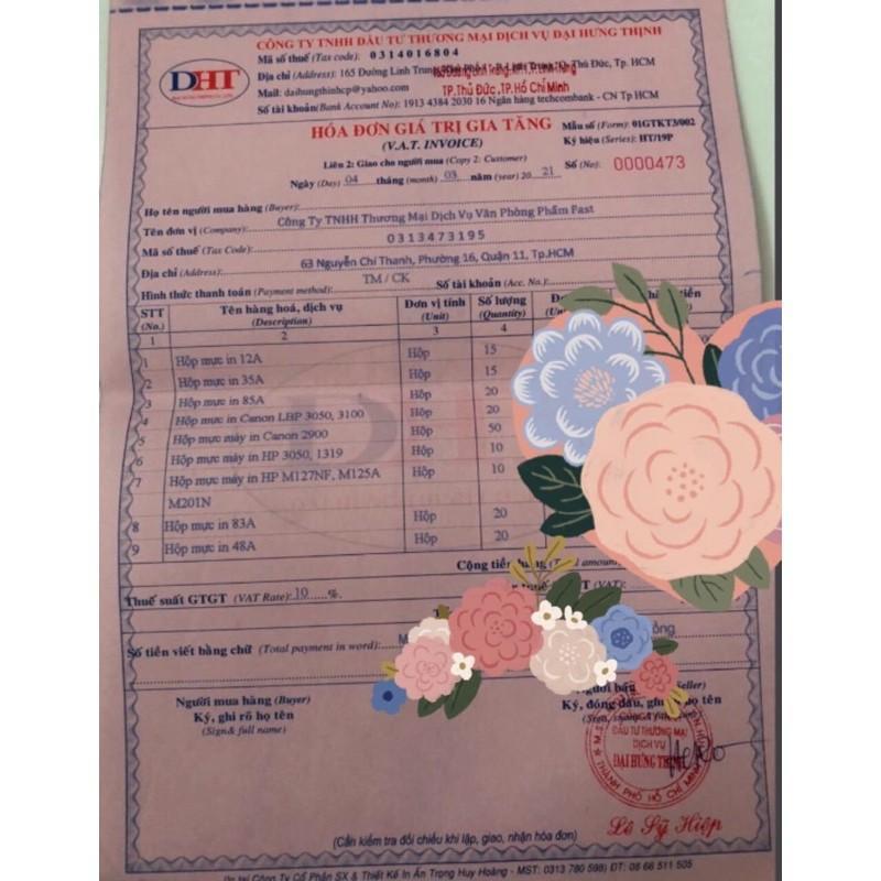 Hộp Mực in 35A 85A Giá Rẻ Dùng Cho Máy in Canon LBP 3050, 3100,.. P1005, P1006, P1100, P1102, P1102W, M1132 M1210,..