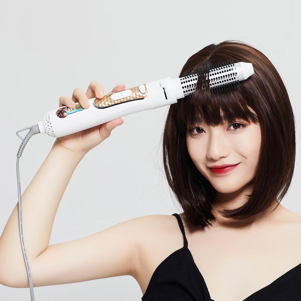 Máy tạo kiểu tóc 4 trong 1 Xiaomi Wellskins Sấy, Uốn, Chải, Chăm sóc Ion - Hàng Chính Hãng