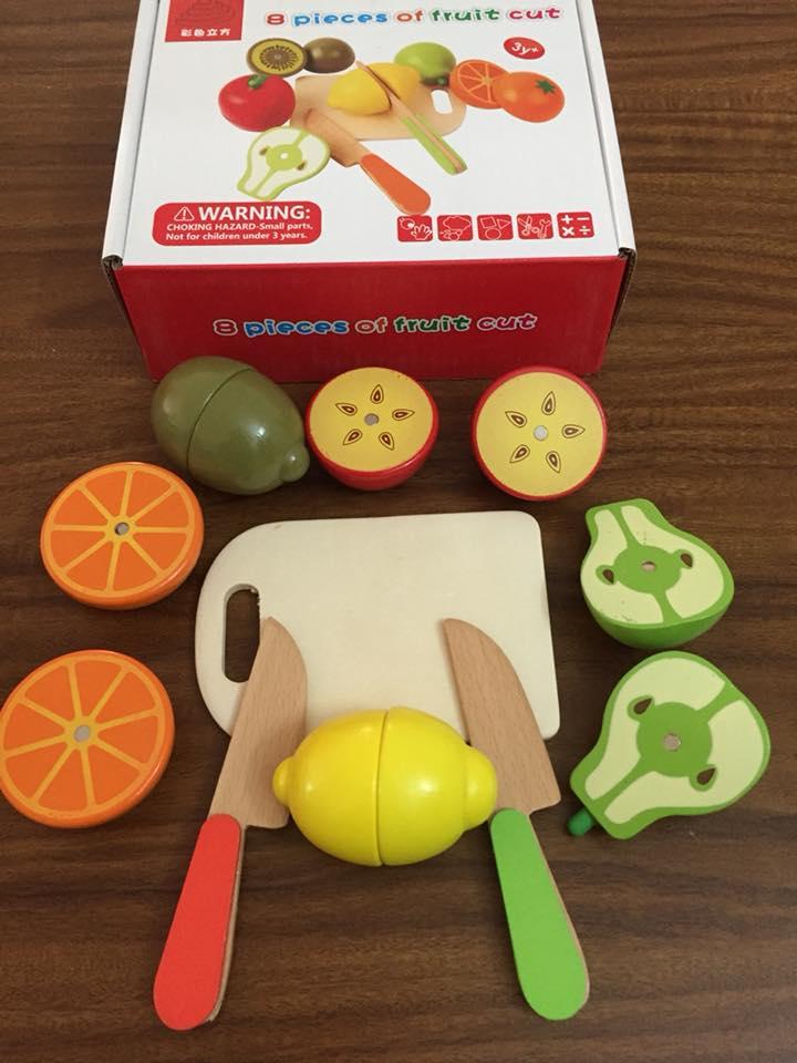 Bộ cắt hoa quả rèn luyện kỹ năng cho bé