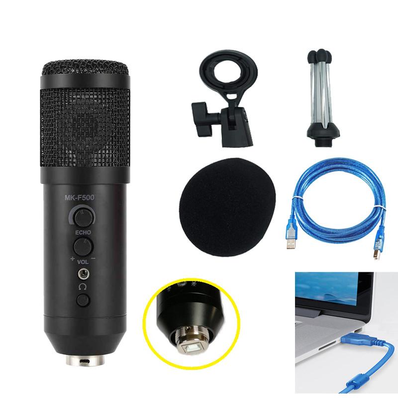 Microphone Thu Âm Live Stream MK-F500USB Kết Nối Qua Cổng USB Cao Cấp AZONE