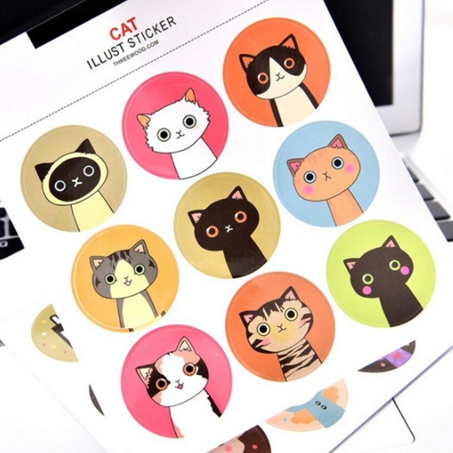 Sticker Cat Lllust