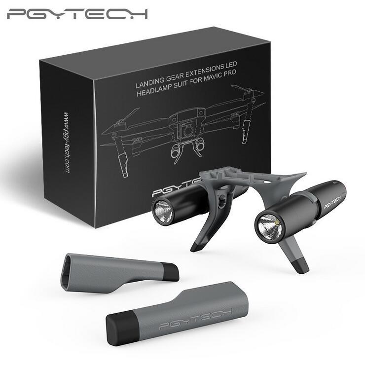 Chân Đáp Có Đèn Mavic Pro 1- PGYTECH Landing Gear Extensions Led Headlamp Set - Hàng Chính Hãng