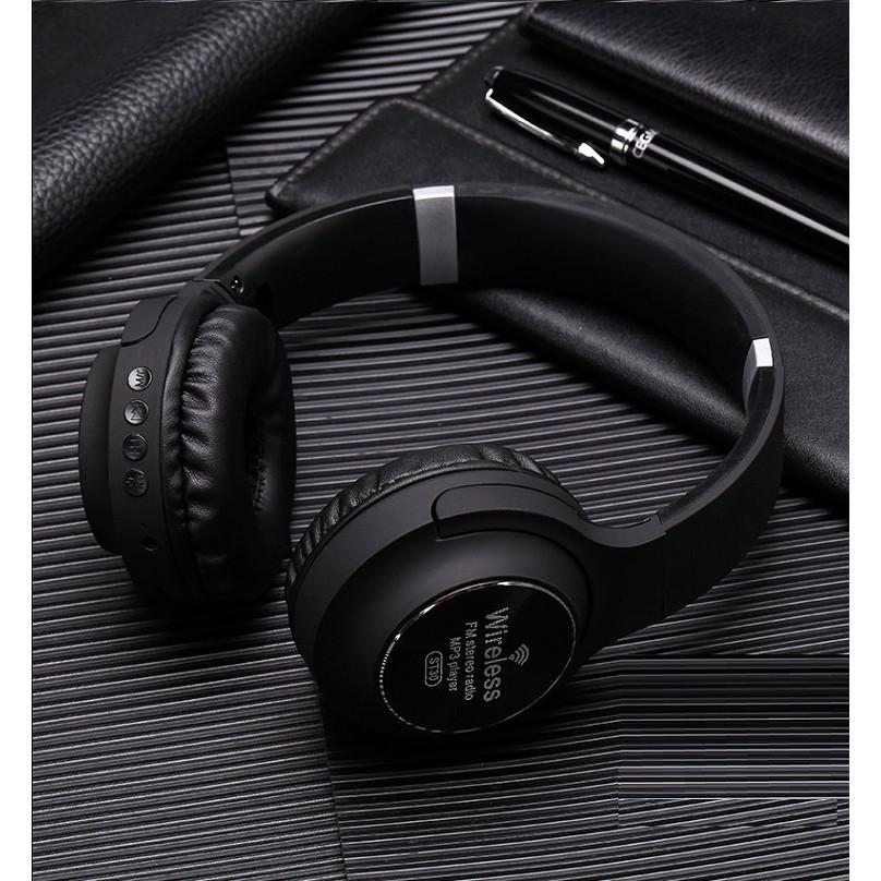 Tai nghe Bluetooth không dây ST-30 Hỗ Trợ Thẻ Nhớ, Đài FM, Có Thể Gấp Gọn Gàng - Hàng Nhập Khẩu