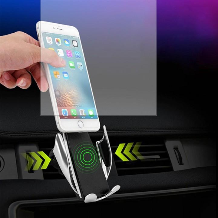 Giá đỡ kiêm sạc nhanh không dây trên ô tô tiện lợi