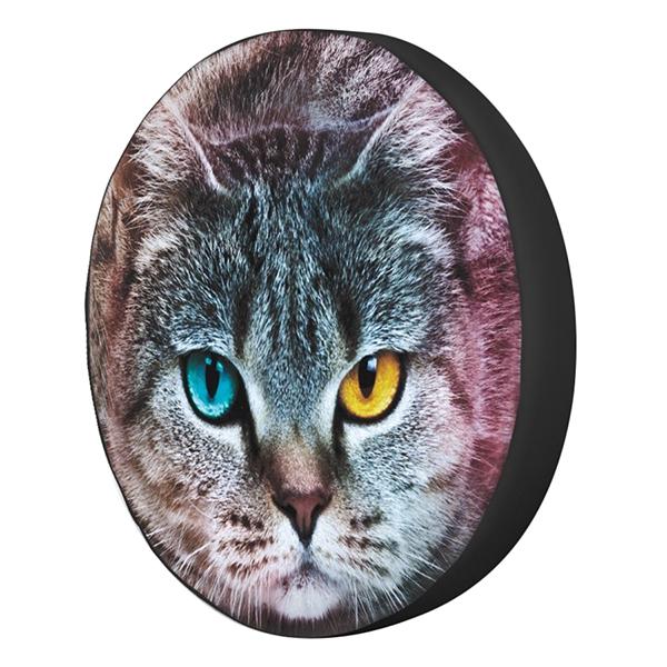 Gối Ôm Tròn Mèo Mắt Hai Màu GOAA012