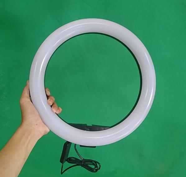 Đèn led livestream 26cm (Φ26) 3 chế độ đèn tích hợp giá đỡ điện thoại