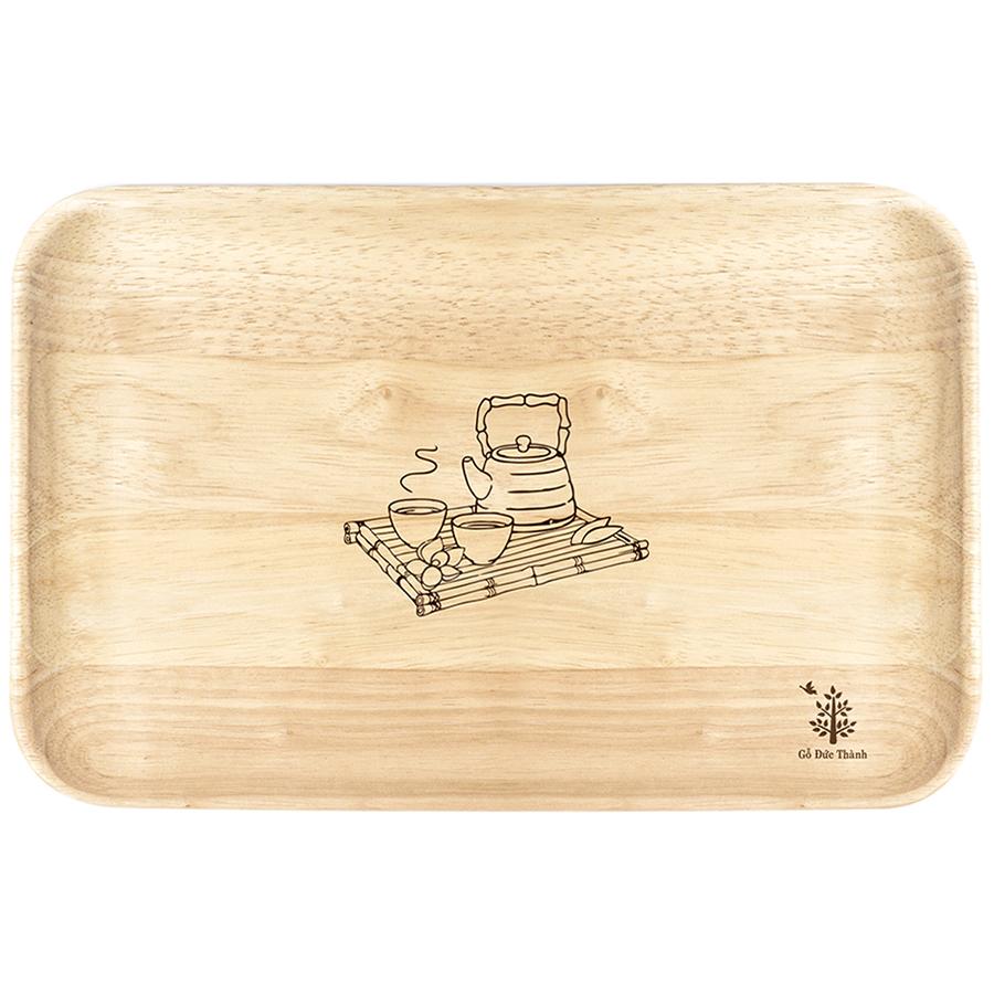 Đĩa gỗ chữ nhật Gỗ Đức Thành