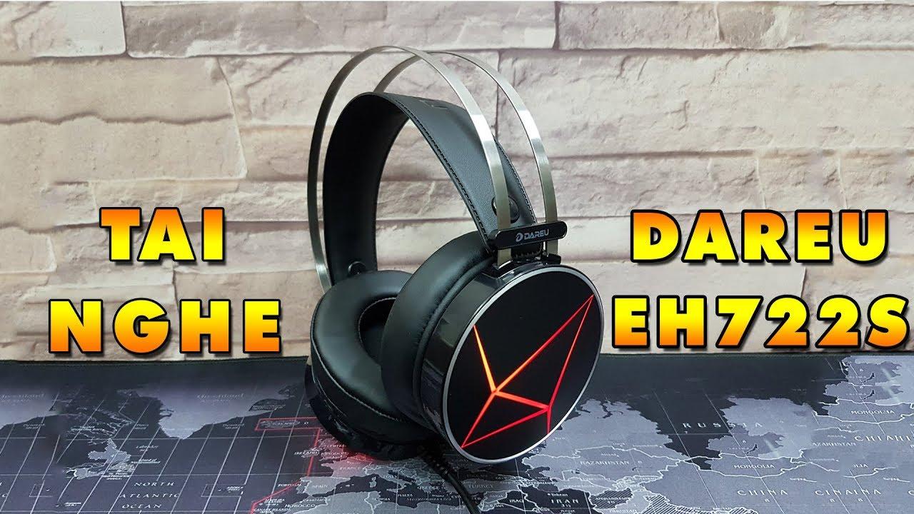 Tai Nghe Gaming có dây DARE-U EH722S 7.1 (Đen) - Hàng Chính hãng