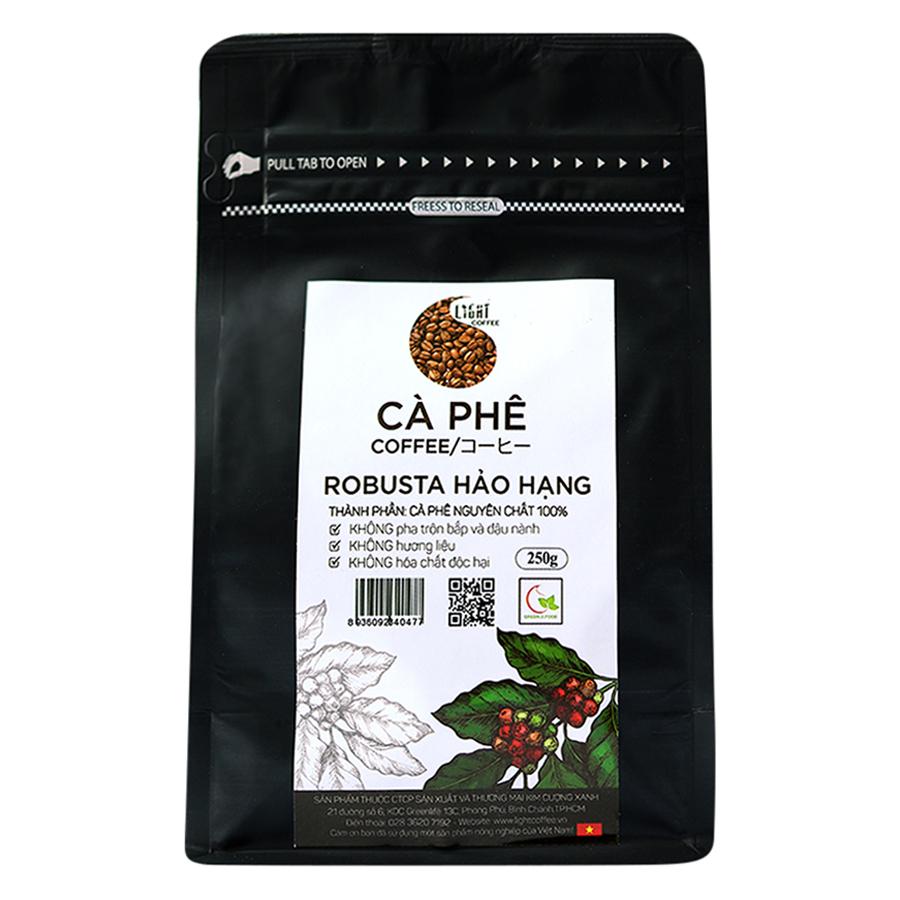 Cà Phê Hạt Nguyên Chất 100 Robusta Hảo Hạng Light Coffee RHH-250 250g - 23226772 , 2358173937318 , 62_1207107 , 205000 , Ca-Phe-Hat-Nguyen-Chat-100-Robusta-Hao-Hang-Light-Coffee-RHH-250-250g-62_1207107 , tiki.vn , Cà Phê Hạt Nguyên Chất 100 Robusta Hảo Hạng Light Coffee RHH-250 250g