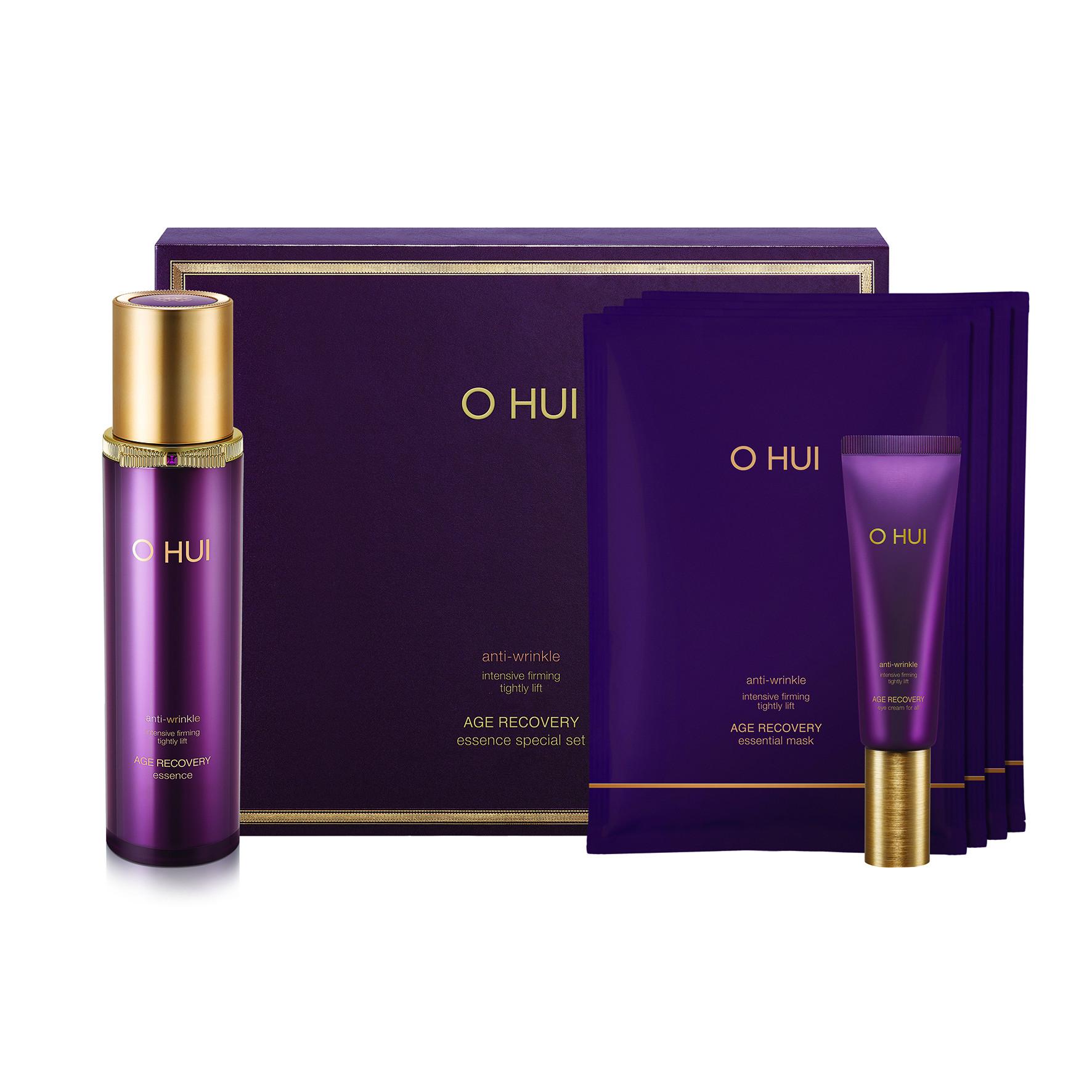 Bộ dưỡng giảm nếp nhăn ngăn ngừa lão hóa OHUI Age Recovery Essence 3pcs Set