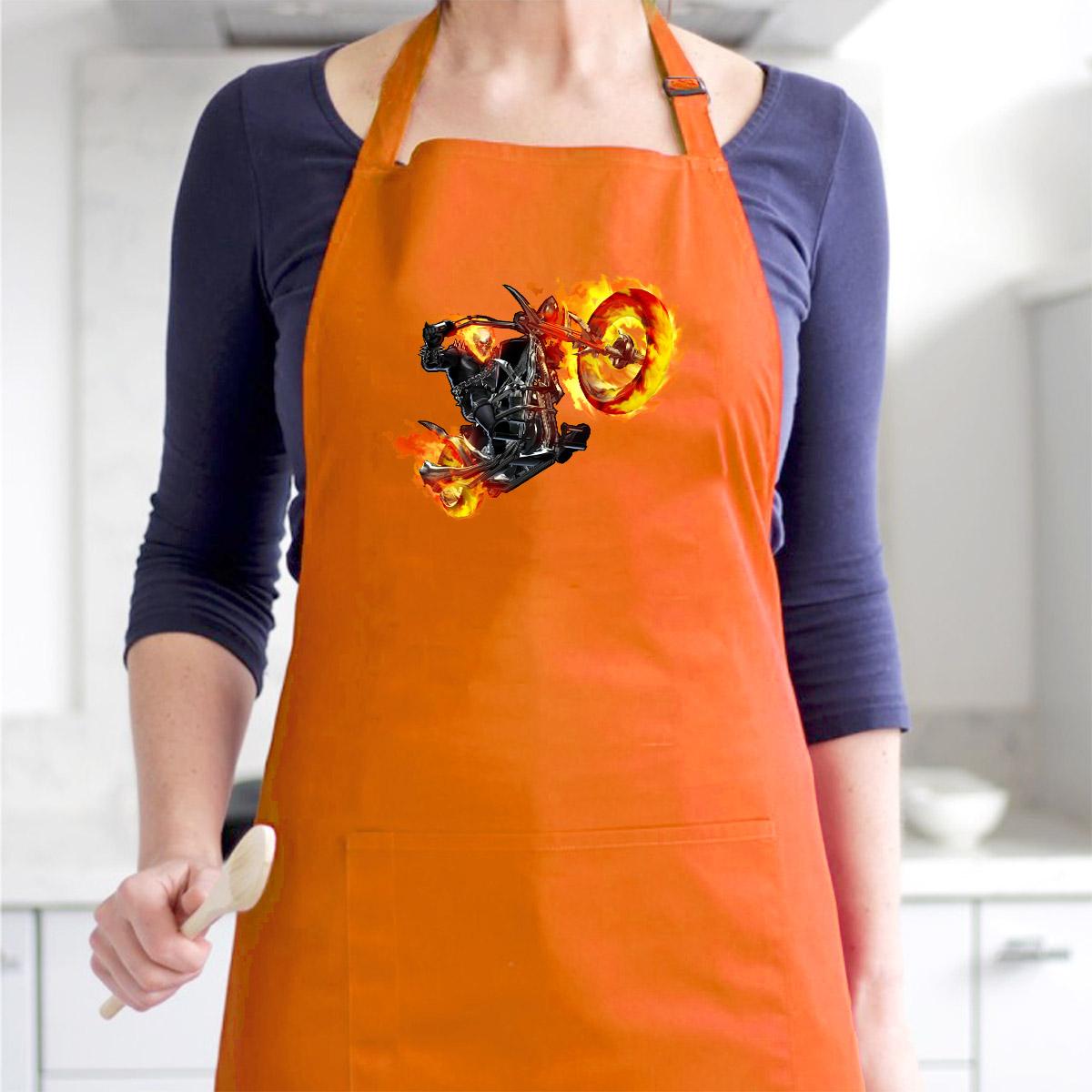Tạp Dề Làm Bếp In Hình Bóng Ma Tốc Độ Ghost - Mẫu007