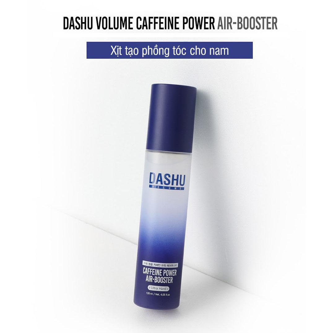 Chai tạo phồng tóc cho nam keo xịt tạo kiểu tóc giữ nếp không làm hư tổn tóc DASHU Caffeine Power Air Booster 120ml (Ultra Hard) JN-XT04