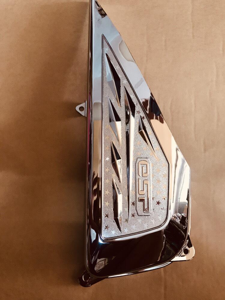 Combo 4 món inox trang trí xe máy Lead 125 ( ốp pô, pô e, quạt ) cao cấp