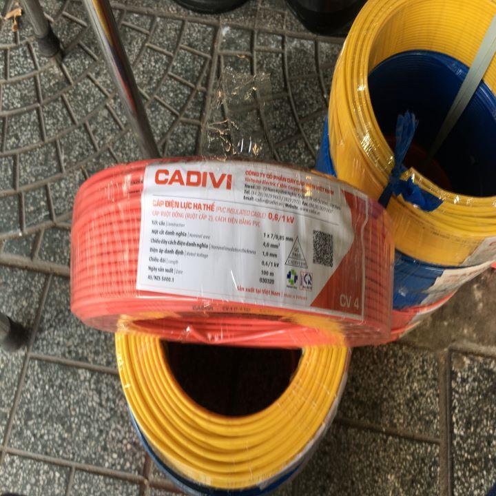 Dây điện Cadivi 4.0 đơn - CV4.0