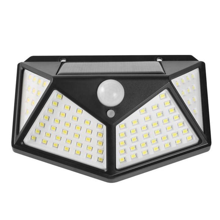 Đèn cảm ứng hồng ngoại năng lượng mặt trời Solar Sensor Wall light 100/20 bóng LED siêu sáng (Đen)