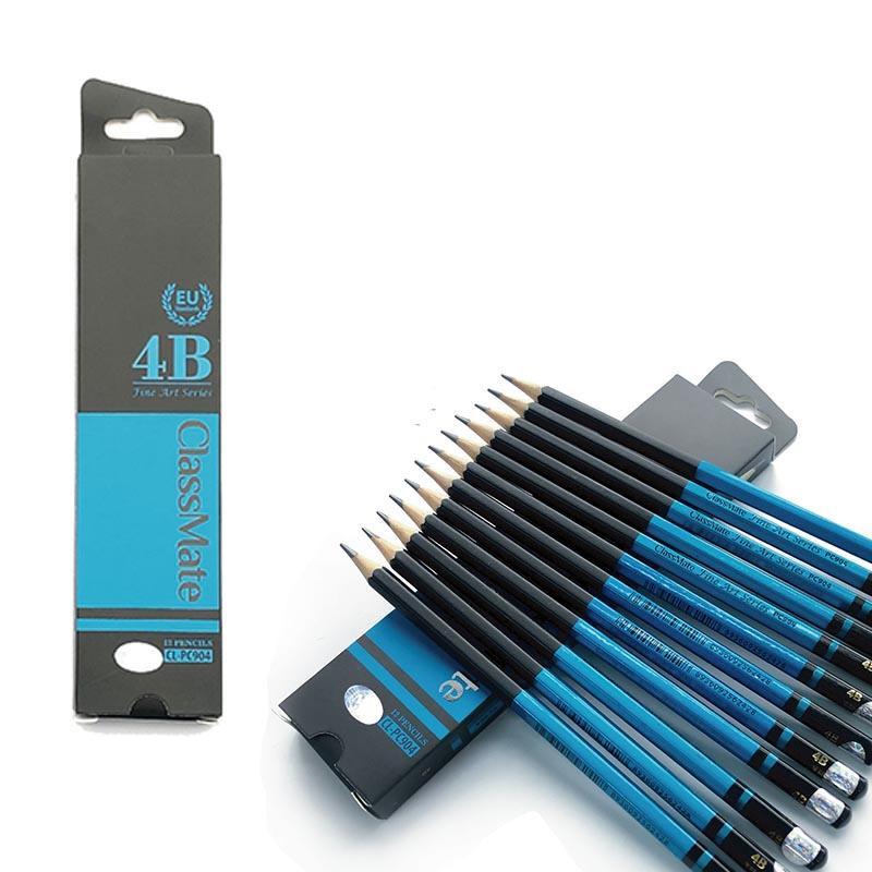 COMBO 6 Cây Bút chì gỗ 4B cao cấp CLASSMATE ( Fine Art 4B CL-PC904 )