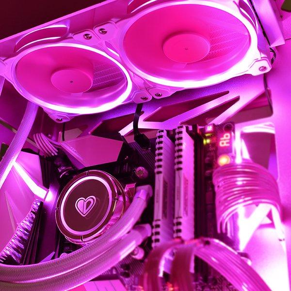 Tản nhiệt nước CPU ID-COOLING PINKFLOW 240 - Hàng Chính Hãng