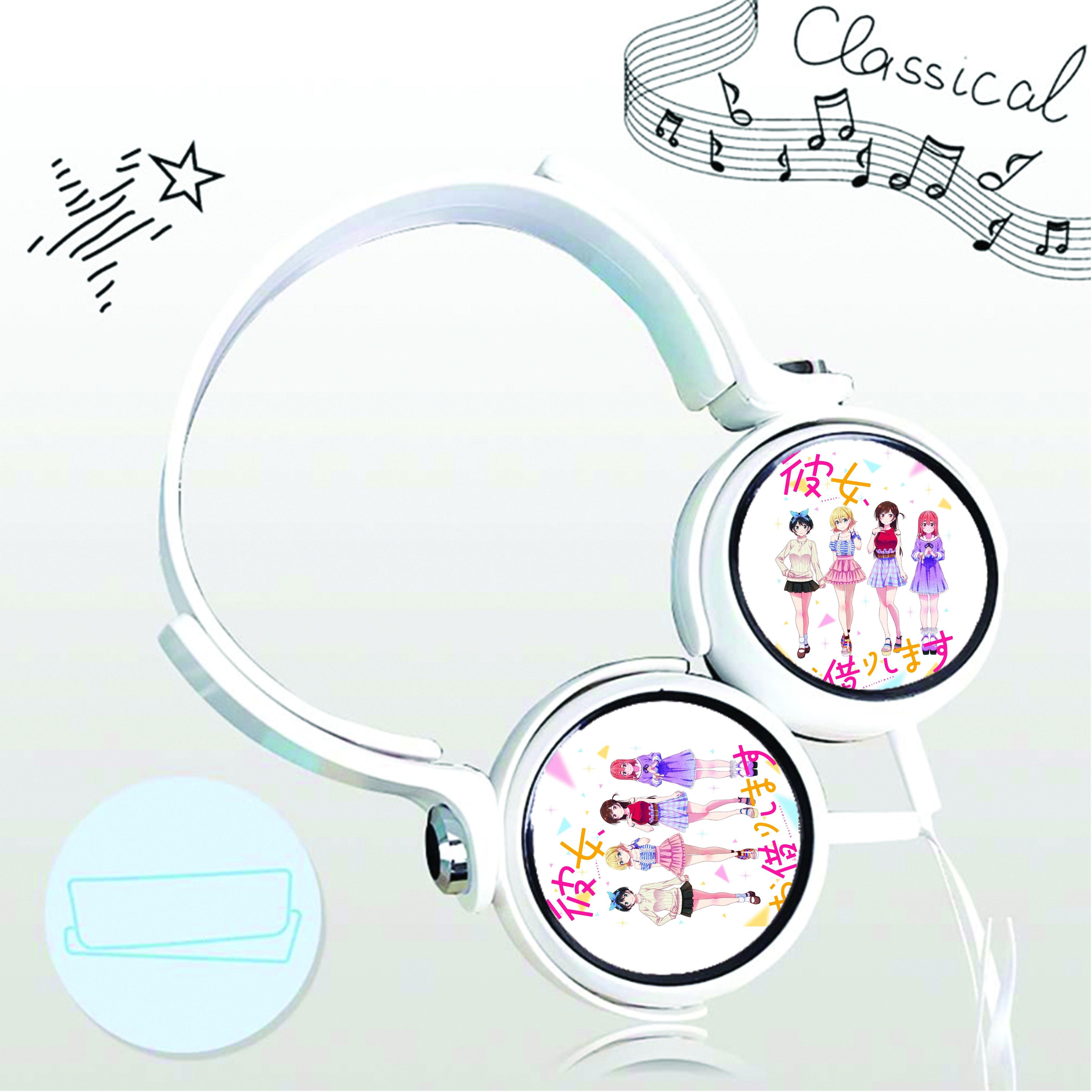 Tai nghe chụp in hình Kanojo, Okarishimatsu - Dịch Vụ Thuê Bạn Gái anime cắm dây có mic