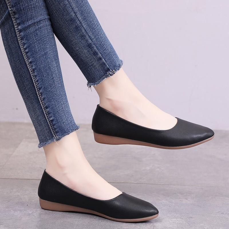 Giày bệt nữ da mềm dáng xinh