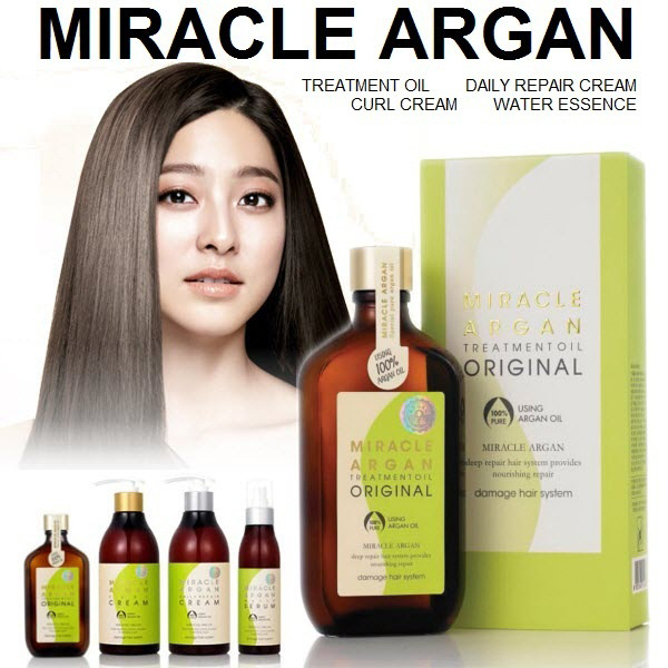 Tinh dầu dưỡng tóc Argan phục hồi hư tổn Merit Miracle Argan Oil Hàn Quốc 100ml + Móc khóa