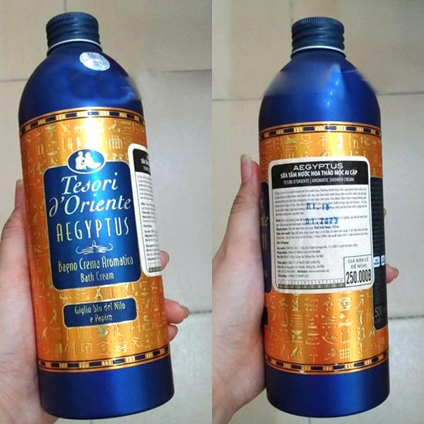 Sữa tắm thảo mộc Ai Cập Tesori D' Oriente Aegyptus 500ml + Móc khóa