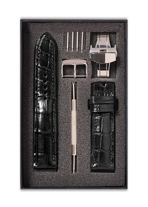 Dây đồng hồ da cá sấu  SAM Leather SAM008ISD - Size 16mm/17mm/18mm/19mm/20mm/21mm/22mm/23mm/24mm phù hợp các loại (Swatch, Apple 1,2,3,4,5, Iwatch và đồng hồ cổ điển) - hàng chính hãng