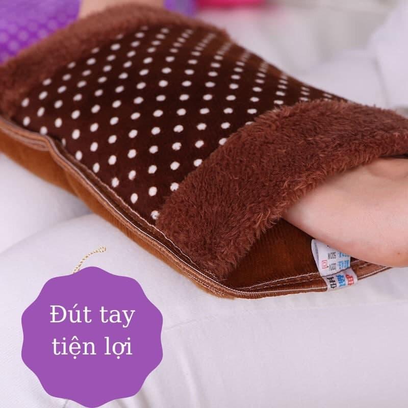 Túi sưởi cắm điện giữ ấm cơ thể dễ thương, túi sưởi chườm bụng đút tay ấm áp giảm tê buốt (Giao mẫu ngâu nhiên)