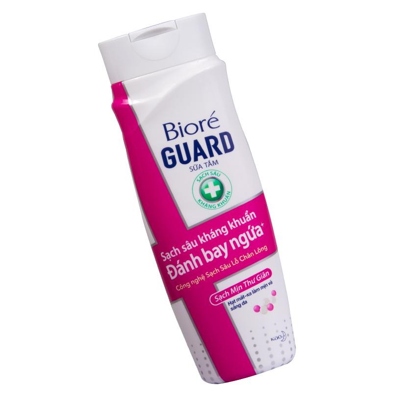 Sữa Tắm Sạch Sâu Kháng Khuẩn Sạch Mịn Thư Giãn Biore Guard 220g