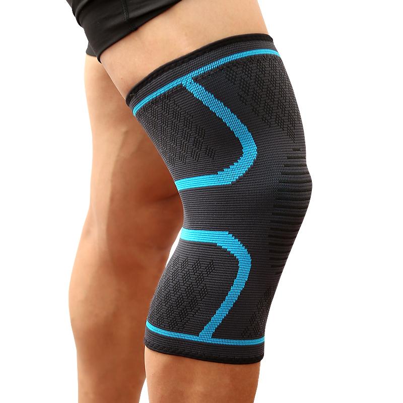 Đai gối đàn hồi bảo vệ đầu gối khi chơi thể thao Aolikes AL7718 (1 đôi) - Xanh - M