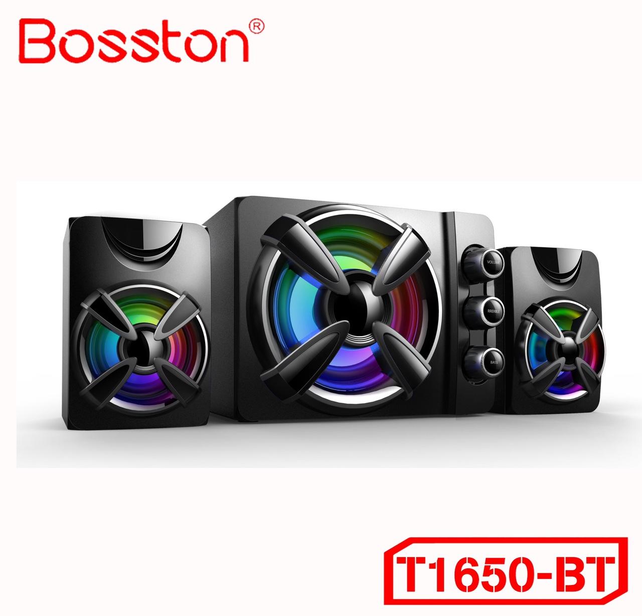 Loa Vi Tính Có Tích Hợp Bluetooth, USB Và Thẻ Nhớ Bosston T1650-BT Đèn LED RGB