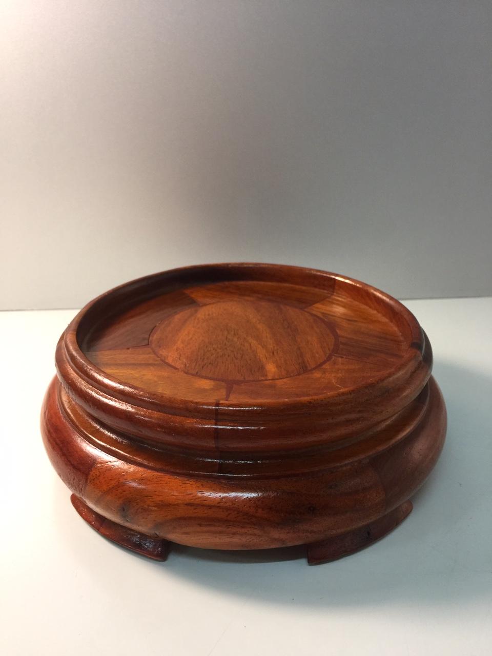 Đế Bát Hương chất liệu gỗ hương (kê bát hương) - 5,5x18 cm