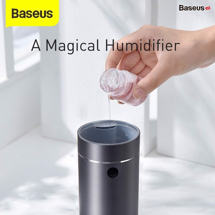 Máy phun sương tạo ẩm, xông tinh dầu nhãn hiệu Baseus DHSG-OG công suất 5W, tích hợp đèn LED đêm - Hàng Nhập Khẩu