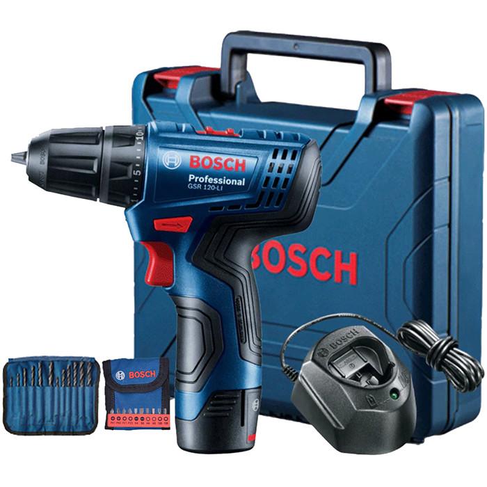 Máy Khoan Vặn Vít Dùng Pin Bosch GSR 120 GEN II (1 Pin, 1 Sạc)