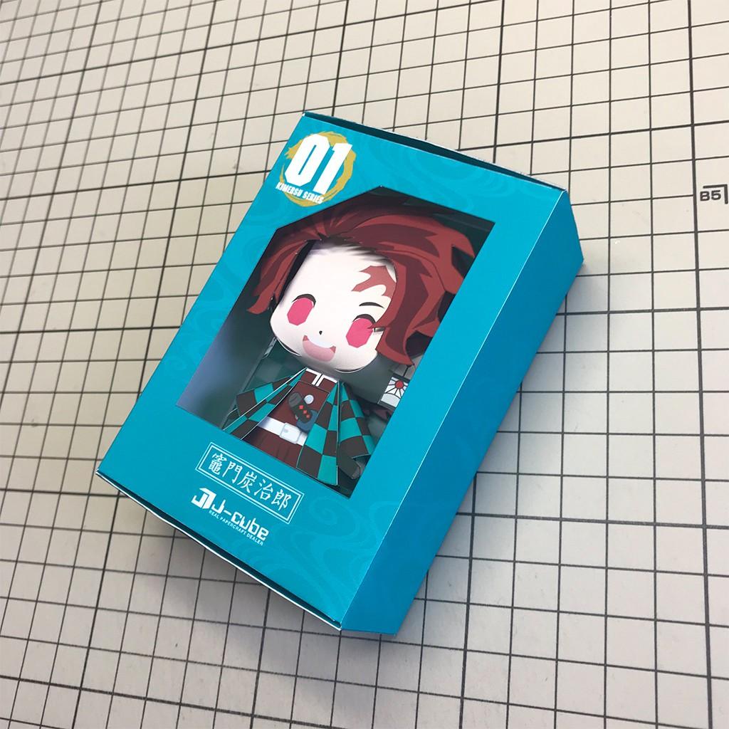 Mô hình giấy Anime Chibi Tanjiro Kamado - Demon Slayer (Kimetsu no Yaiba) + kit mô hình hộp trang trí