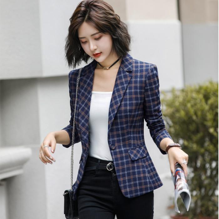 Áo khoác vest nữ caro phong cách Hàn Quốc NA66 7