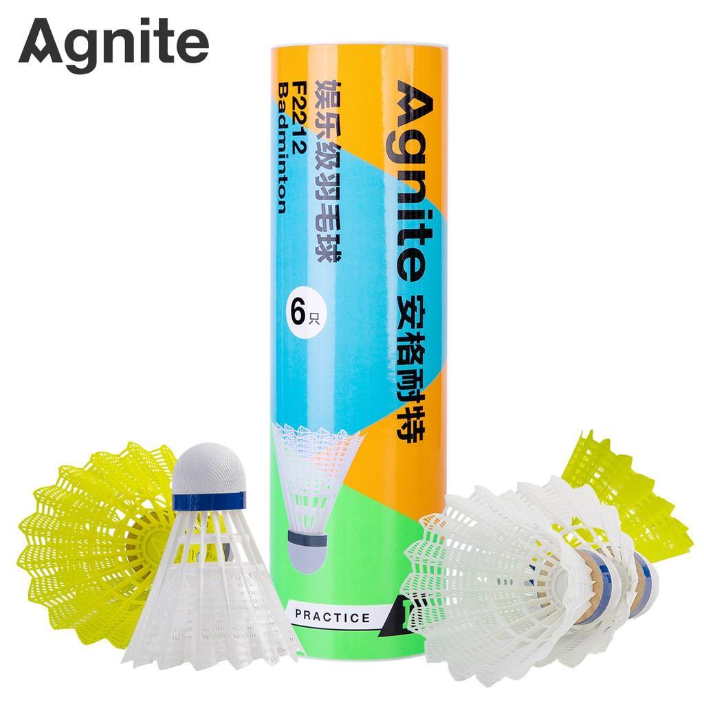 Hộp cầu lông nhựa Agnite 6 quả - F2212