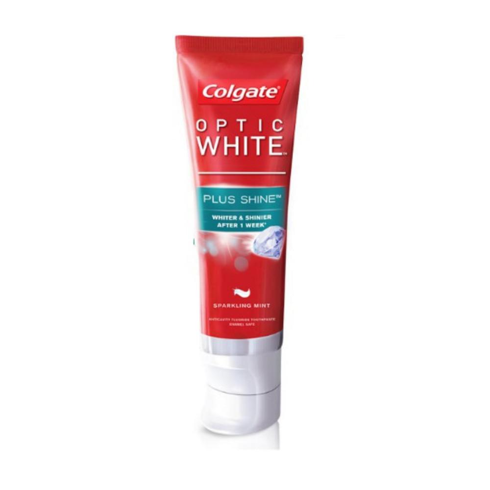 Kem đánh răng Colgate Optic White Plus Shine làm trắng răng & sáng răng 46g